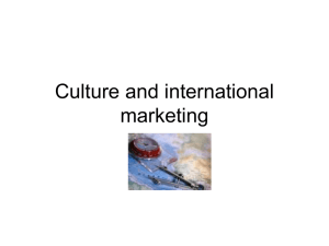 Culture and internatinal marketing