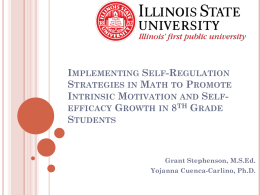 Implementing Self-Regulation Strategies in Math to Promote Intrinsic