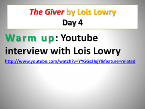 Giver PPT Day 4