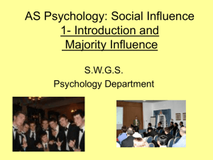 AS Psychology Social Influence