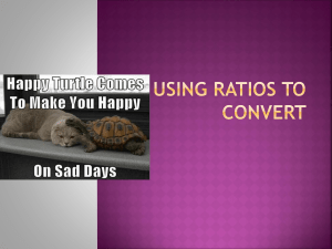 Using Ratios to Convert Quick!!!