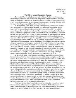 the giver analysis 13 short answer study guide questions with answers the giver page 2 chapters 11 - 13 1 describe jonas's consciousness while he received the memory 2 what words or concepts did jonas experience.