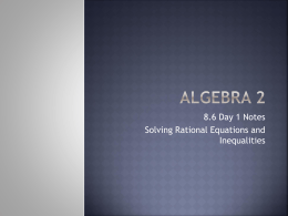 8.6: Solving Rational Equations