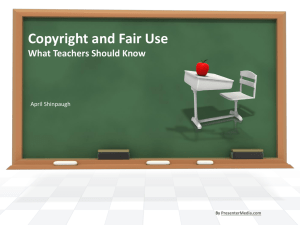 Copyright and Fair Use Presentation