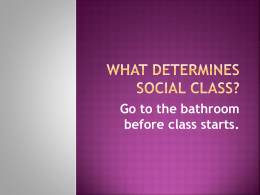 What determines Social Class?