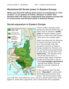 Worksheet #3 Soviet Expansion