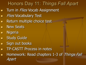 Honors Day 11: Things Fall Apart