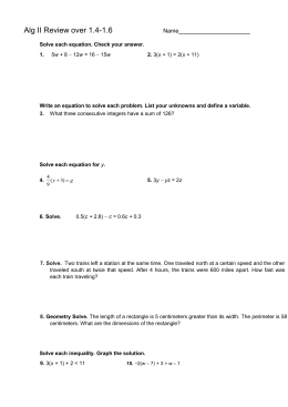 Alg II 1.4-1.6 Review packet