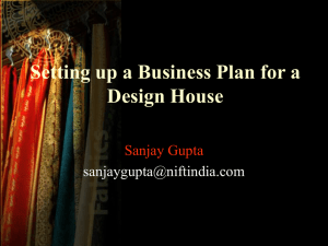 Setting up a Business Plan for a Design House