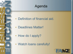 2014 financial aid nigh
