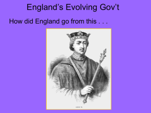 Evolution of British Govt