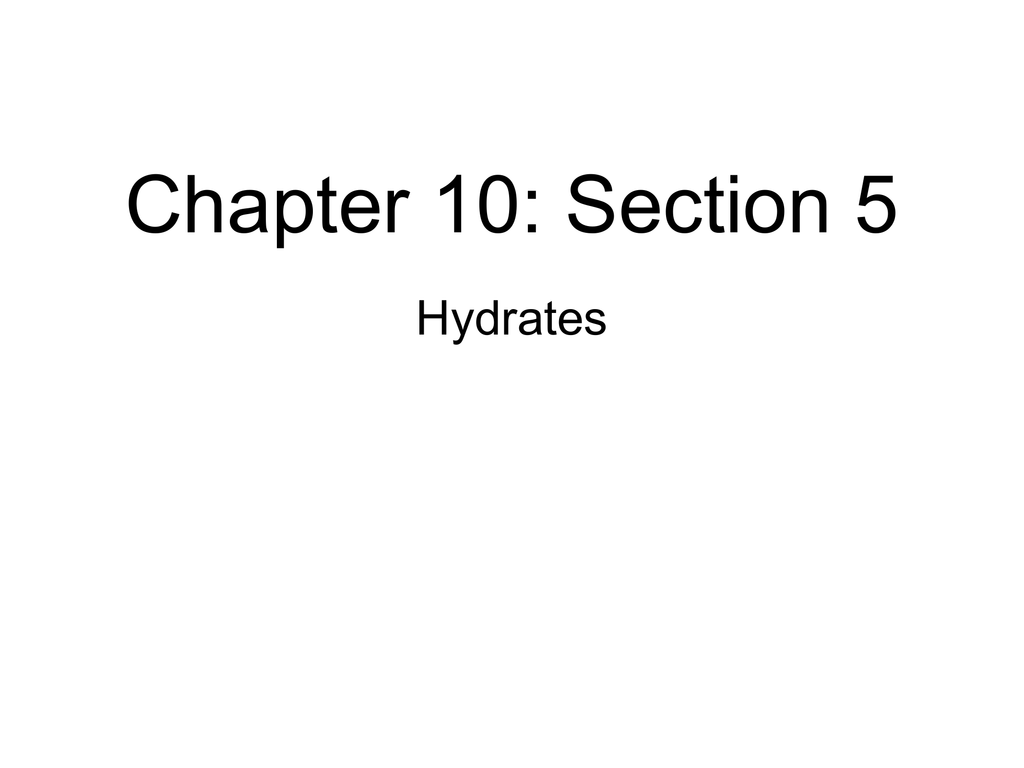 Chapter 10: Section 5