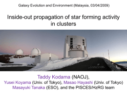 malaysia09_proc - Galaxy Evolution and Environment