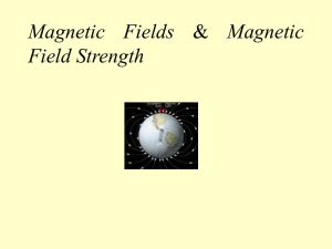 Magnetic Fields & Magnetic Field Strength