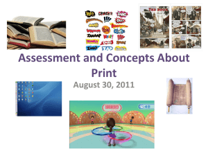 Assessment and Concepts About Print - CI209