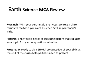Earth Science MCA Review Research