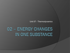 02 – Energy Changes in one substance