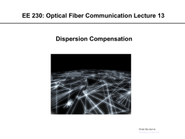 Optical Fiber Communication Lecture 13