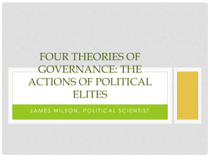 Four Theories of Governance: The Actions of Political Elites