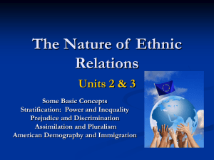 The Nature of Ethnic Relations