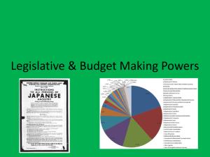 Legislative & Budget Making Powers