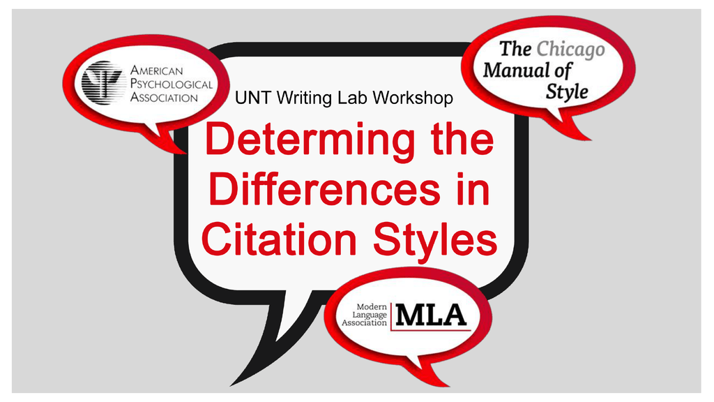 Revised Determining The Differences In Citation Styles