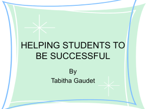 helping students be successful - The University of Texas at Dallas