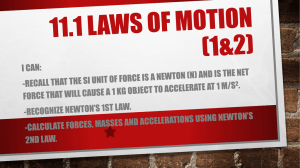11.1 Laws of Motion
