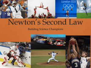 Newton*s Second Law