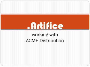 .Artifice working with ACME Distribution