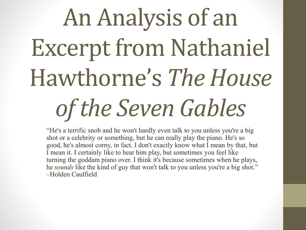 nathaniel hawthorne analysis