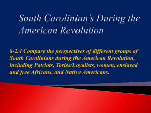 8-2.4 South Carolinians during the Revolution