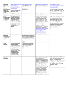 Research Question source grid