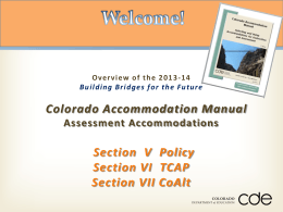 2013-14 accommodations training