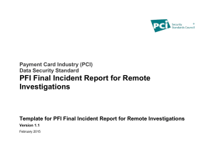 Instructions for the Template for PFI Final Incident Report for Remote