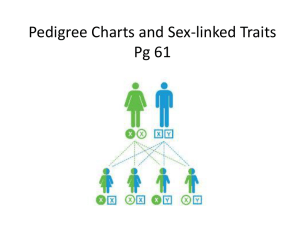 Pedigree Charts and Sex-linked Traits Pg 61