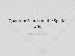 Quantum Search on the Spatial Grid