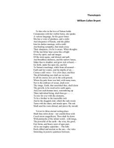 """Thanatopsis"" by William Cullen Bryant"