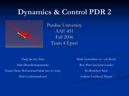 D and C PDR 2 - Purdue University