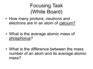 Moles & Molar Mass