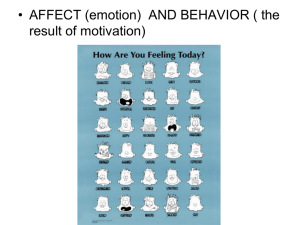 Theories of Emotion/Motivation