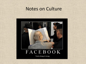Notes on Culture