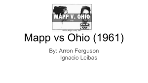 Mapp vs Ohio (1961) - AHS Government Webpage