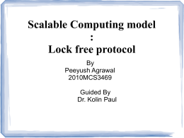 Scalable Computing model : Lock free protocol