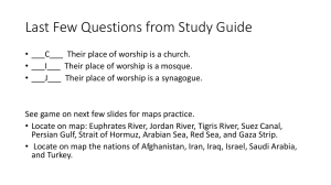Middle East Geography Study Guide Review Part 3