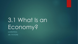 3.1 What Is an Economy? - River Dell Regional School District