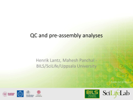QC and pre-assembly analyses