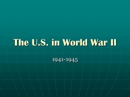 The US in World War II