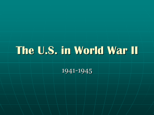 The US in World War II