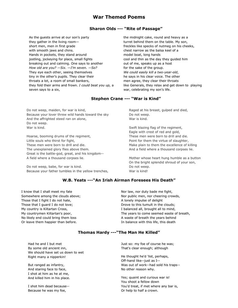 Parent / Child themed poems